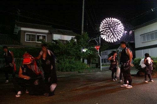 大花火と神楽