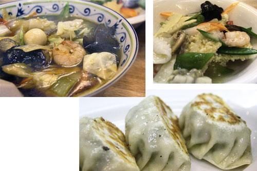 広東麺・海鮮おこげ・餃子